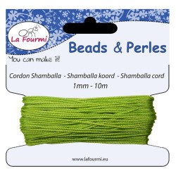 Carte 10 m Cordon anis en coton pour Shamballa, 1 mm ø
