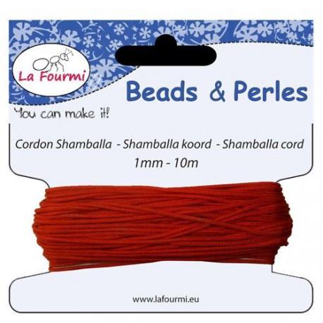 Carte 10 m Cordon rouge en coton pour Shamballa, 1 mm ø