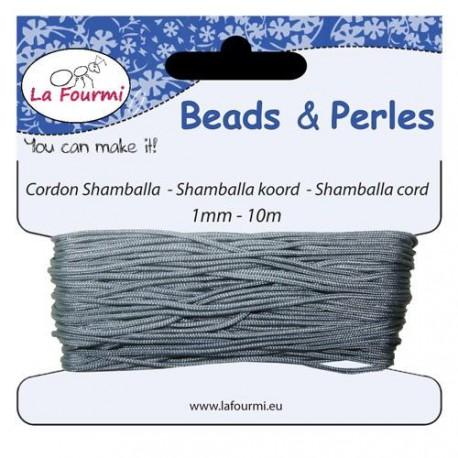 Carte 10 m Cordon gris en coton pour Shamballa, 1 mm ø