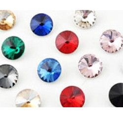 Strass imitation diamant, rond 10 mm x 30