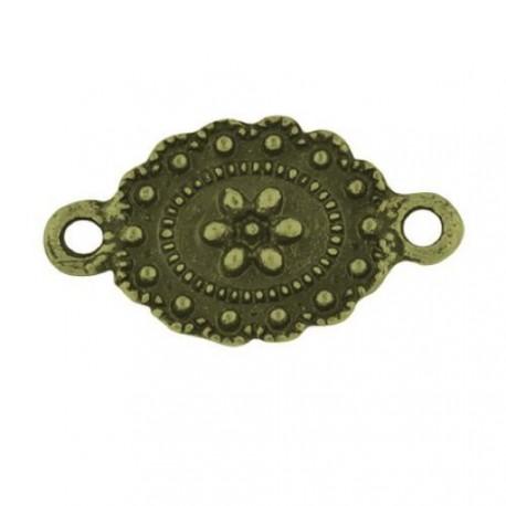 Entre-deux ovale, bronze antique
