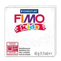 Fimo Kids Blanc pailleté 052 - 42 gr