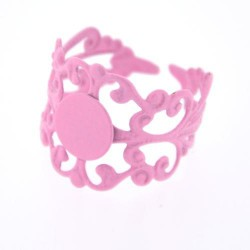 Support de bague dentelle, réglable, plateau 8 mm, rose