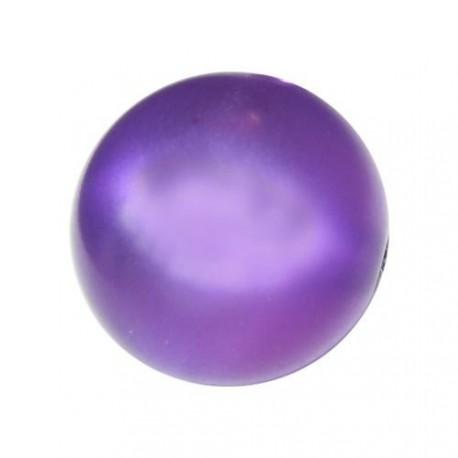 Perle Polaris lilas, brillant, ronde 14 mm - à l'unité
