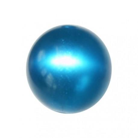 Perle Polaris vert canard, brillant, ronde 14 mm - à l'unité