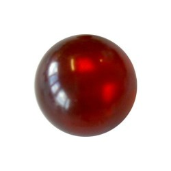 Perle Polaris rouge, brillant, ronde 10 mm - à l'unité