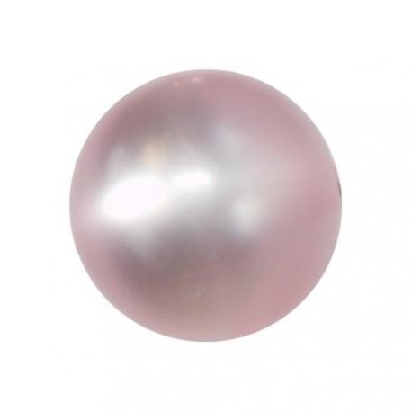 Perle Polaris rose, brillant, ronde 14 mm - à l'unité