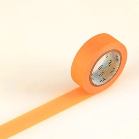 Masking Tape uni Orange fluo - 15 mm x 10 m