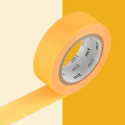 Masking Tape uni Orange clair - 15 mm x 10 m