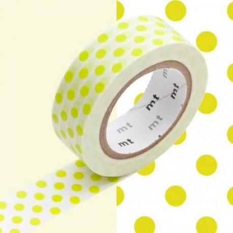 Masking Tape Pois verts - 15 mm x 10 m