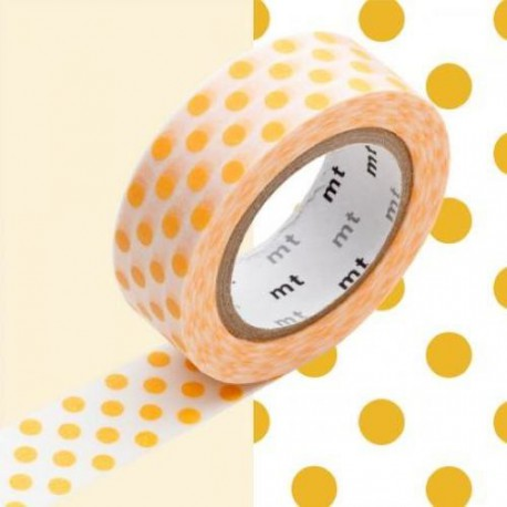 Masking Tape Pois oranges - 15 mm x 10 m