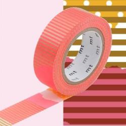 Masking Tape ocre et rose tsugihagi - 15 mm x 10 m