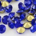Strass imitation diamant, rond 3 mm, bleu foncé x 10