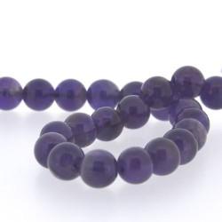 Perle naturelle Améthyste, ronde 8 mm - à l'unité