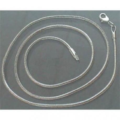 Collier 46,5 cm argenté clair, fin