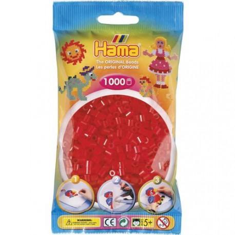 Sachet 1000 Perles Hama Midi - Rouge transparent