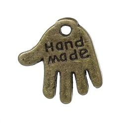 Breloque en métal Hande Made, bronze antique
