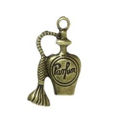 Pendentif breloque en métal parfum, bronze antique