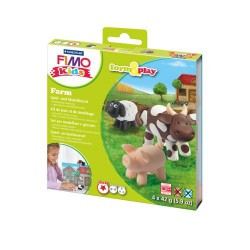 Kit Fimo Kids Animaux de la ferme