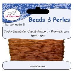 Carte 10 m Cordon brun en coton pour Shamballa, 1 mm ø