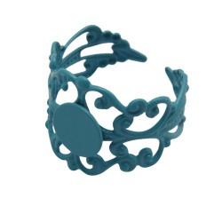 Support de bague dentelle, réglable, plateau 8 mm, turquoise