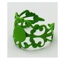 Support de bague dentelle, réglable, plateau 8 mm, verte