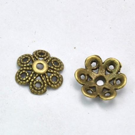 Calotte de métal 12,5 mm, bronze antique - par 10