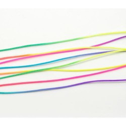 Cordon nylon multicolore fluo 1,5 mm ø