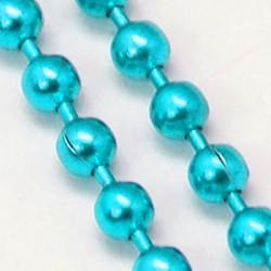 Chaîne billes, Ø1,5 mm turquoise