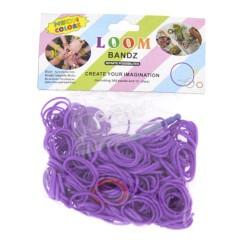 Sachet 300 Elastiques Loom violets