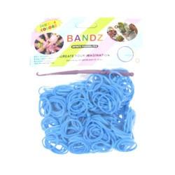 Sachet 300 Elastiques Loom bleus