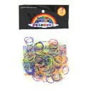 Sachet 260 Elastiques Loom transparents multicolores