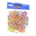Sachet 180 Elastiques Loom bi-colores fluos