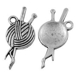 Pendentif breloque en métal Pelote de laine
