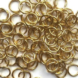 Anneau aluminium doré, 11 mm x10
