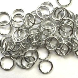 Anneau aluminium silver, 8 mm x10