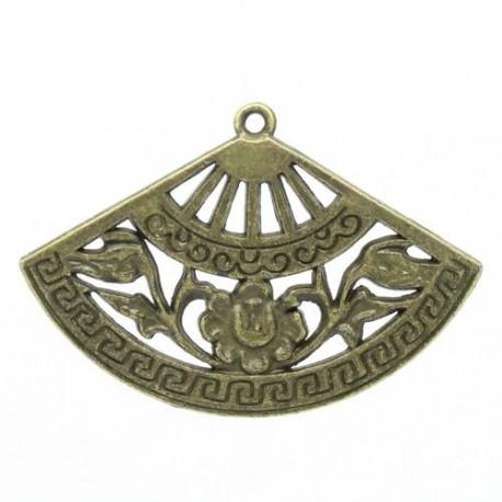 Pendentif breloque en métal Eventail, bronze