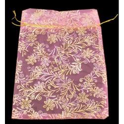Sachet organza rose 11 x 16 cm