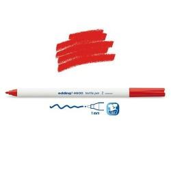 Marqueur textile Rouge pointe 1 mm