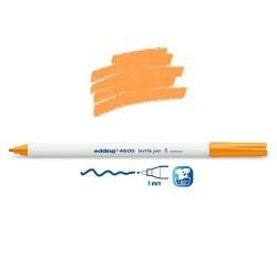 Marqueur textile Orange pointe 1 mm