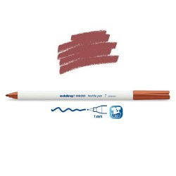 Marqueur textile Marron pointe 1 mm