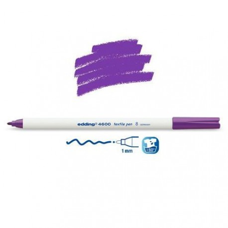 Marqueur textile Violet pointe 1 mm