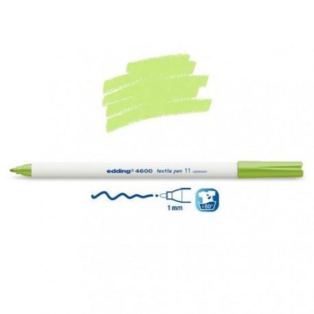 Marqueur textile Vert clair pointe 1 mm