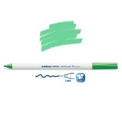 Marqueur textile Vert pale pointe 1 mm