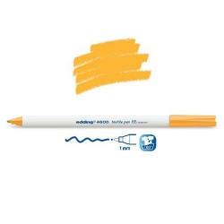Marqueur textile Orange fluo pointe 1 mm