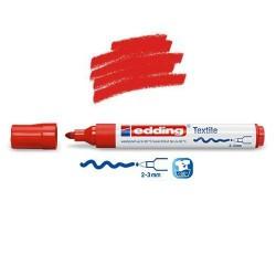 Marqueur textile Rouge pointe 2-3 mm