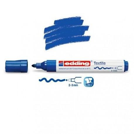 Marqueur textile Bleu pointe 2-3 mm
