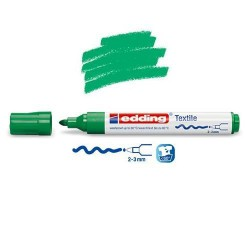 Marqueur textile Vert pointe 2-3 mm