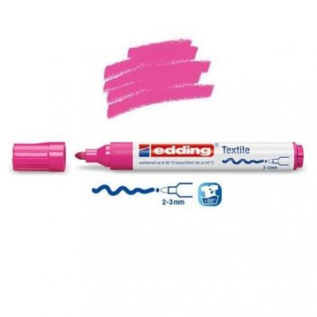 Marqueur textile Rose pointe 2-3 mm