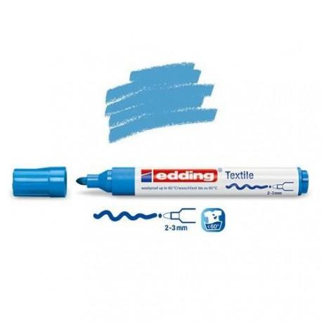Marqueur textile Bleu clair pointe 2-3 mm